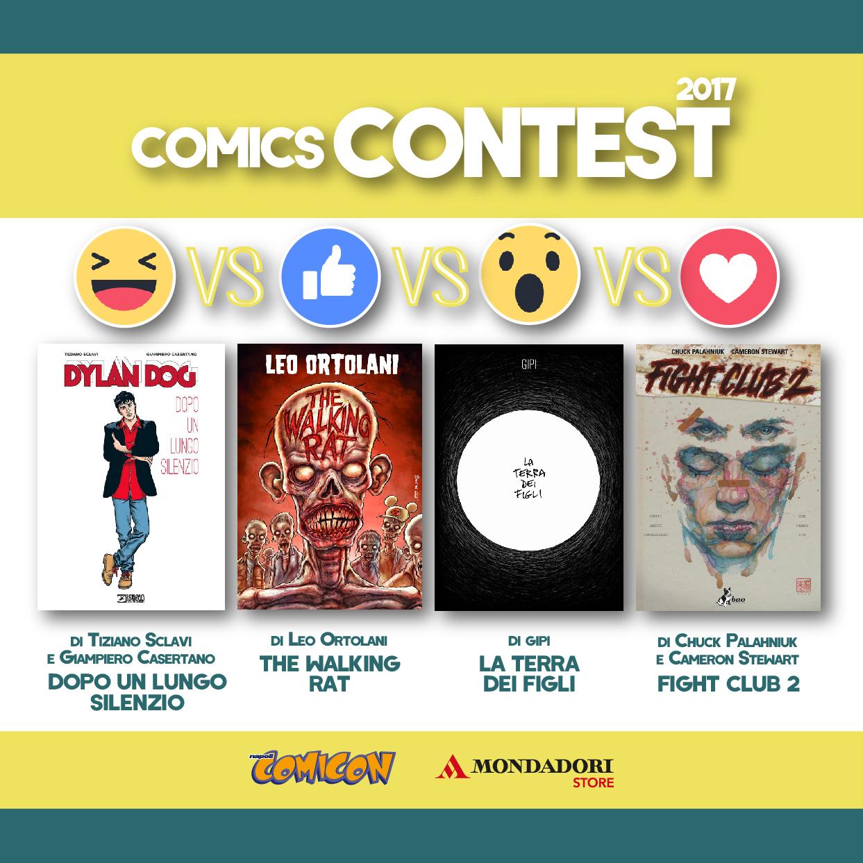 Scegli il fumetto migliore del 2016 con Comicon e Mondadori Store