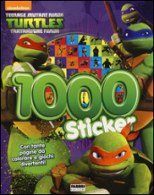 1000 sticker. Con adesivi. Teenage mutant ninja turtles