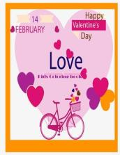 14 February Happy Valentine Love Kids Coloring Book