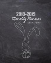 2018-2019 Monthly Planner Rabbit Drawing Design