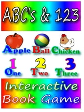ABC s & 123 Interactive Book Game