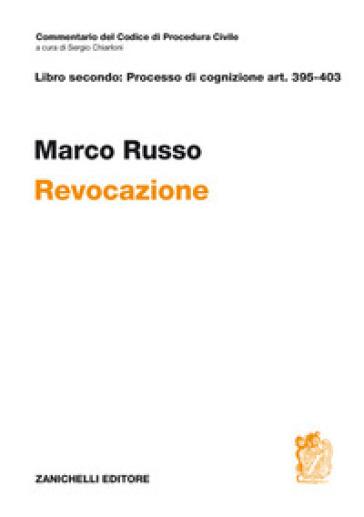 ART. 395-403. Revocazione - Marco Russo |