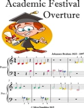 Academic Festival Overture Beginner Piano Sheet Music with Colored Notes
