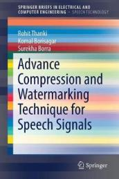 Advance Compression and Watermarking Technique for Speech Signals
