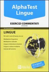 Image of Alpha Test. Lingue. Esercizi commentati