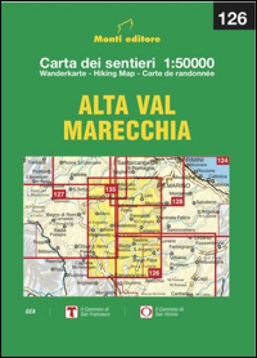 Alta Val Marecchia. Carta dei sentieri 1:50.000 Ediz. multilingue - Raffaele Monti |