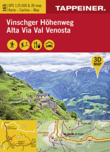 Alta via Val Venosta-Vinschger Hohenweg 1:25.000