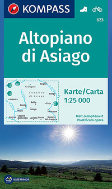 Altopiano di Asiago 1:25.000. Adatto a GPS. DVD-ROM. Digital map