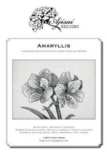 Amaryllis. A blackwork design. Ediz. italiana, inglese e francese - Valentina Sardu   Thecosgala.com