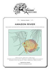 Amazon River. Blackwork and Cross Stitch Design by Valentina Sardu for Ajisai Designs