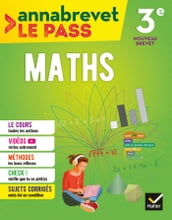 Annabrevet Le Pass - Maths 3e