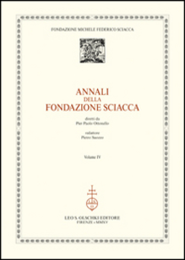 Annali della Fondazione Sciacca. 4.