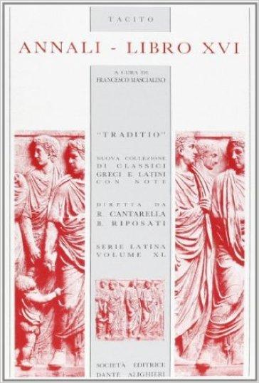 Annali. Libro 16º - Publio Cornelio Tacito | Kritjur.org