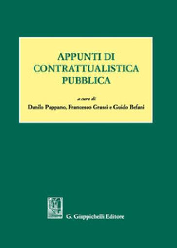 Appunti di contrattualistica pubblica - D. Pappano |