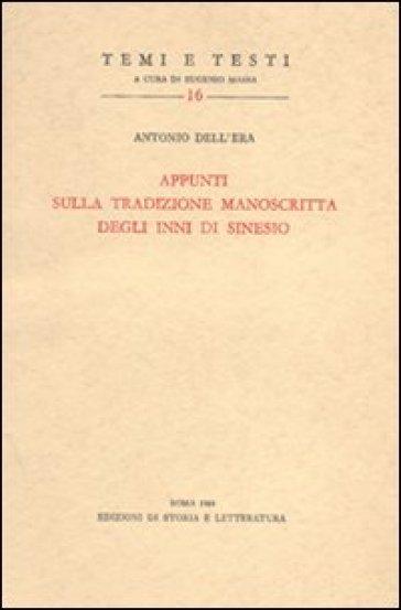 Appunti sulla tradizione manoscritta degli Inni di Sinesio - Antonio Dell'Era | Kritjur.org