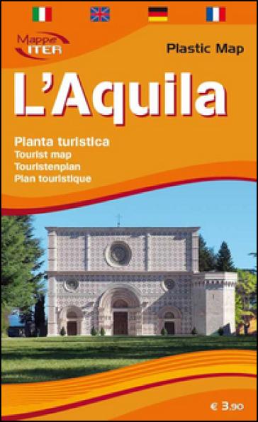 L'Aquila, pianta turistica 1:5.000. Ediz. multilingue