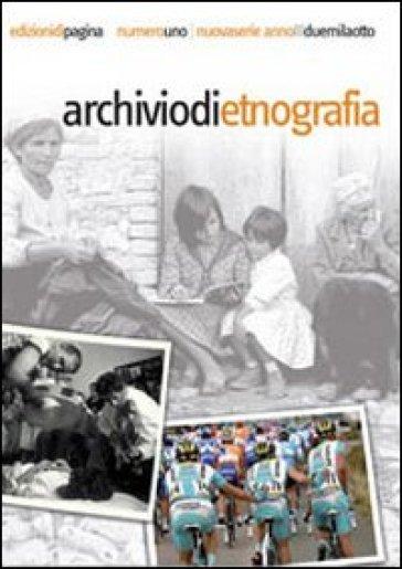 Archivio di etnografia (2006). Vol. 1: Speciale Pietro Sassu