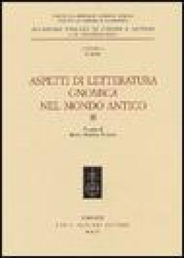 Aspetti di letteratura gnomica nel mondo antico. 2. - M. S. Funghi | Jonathanterrington.com