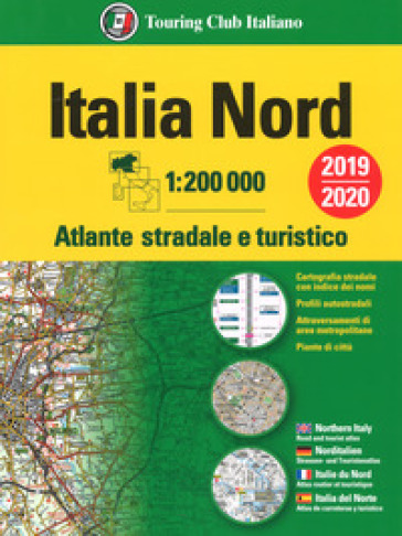Atlante stradale Italia Nord 1:200.000. Ediz. multilingue -  pdf epub