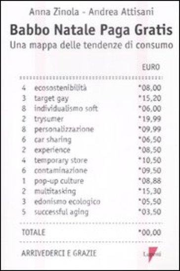 Babbo Natale paga gratis. Una mappa delle tendenze di consumo - Andrea Attisani | Thecosgala.com