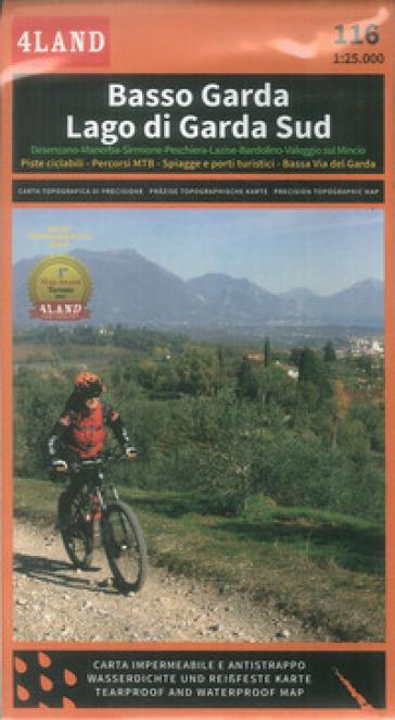 Basso Garda. Lago di Garda Sud. Carta escursionistica 1: 25.000