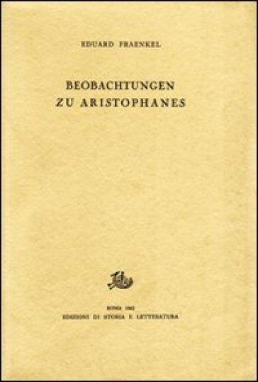 Beobachtungen zu Aristophanes - Eduard Fraenkel | Rochesterscifianimecon.com
