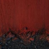 Black in deep red - red& black splatter