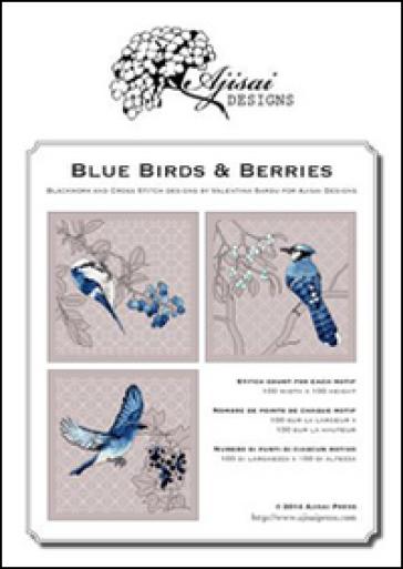 Blue birds & Berries. Cross stitch and blackwork designs - Valentina Sardu |