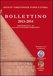 Bollettino STAS (2013-2014). Supplemento 40 alle fonti di storia cornetana