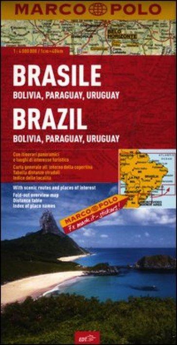 Brasile, Bolivia, Paraguay, Uruguay 1:4.000.000