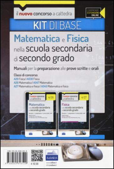 CC 4/12 matematica e fisica nella scuola secondaria. Manuali... Classi di concorso: A20, A038, A26, A047, A27, A049. Kit di base. Con espansione online - E. Barbuto pdf epub