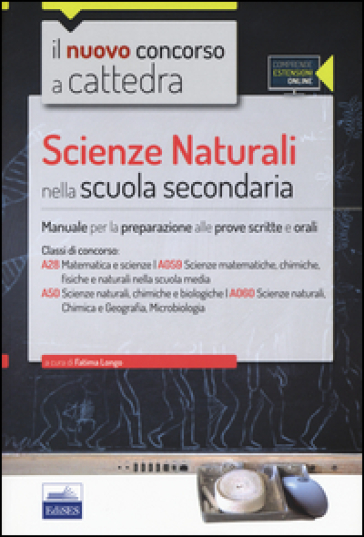 CC4/28 Scienze naturali nella scuola secondaria. Per la classe A28 (A059) e A50 (A060). Con espansione online - F. Longo pdf epub