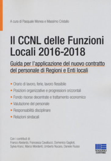 Il CCNL delle funzioni locali 2016-2018 - P. Monea |