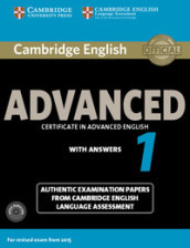 Cambridge english advanced 1 for revised exam from 2015 student\'s book pack