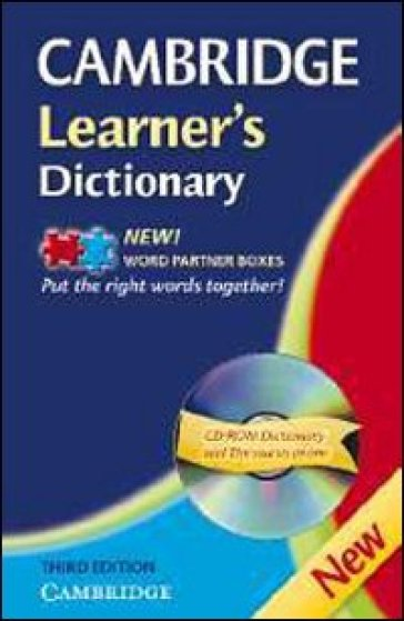 Cambridge learner's dictionary. Intermediate to upper intermediate. Con CD-ROM