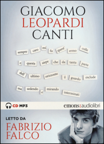 Canti letto da Fabrizio Falco. Audiolibro. CD Audio formato MP3
