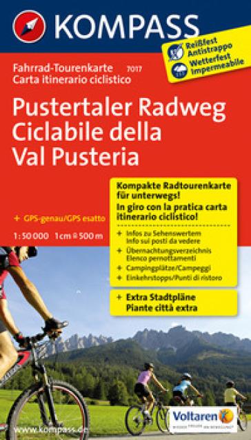 Carta cicloturistica tour n. 7017. Ciclabile della Val Pusteria-Pustertaler Radweg