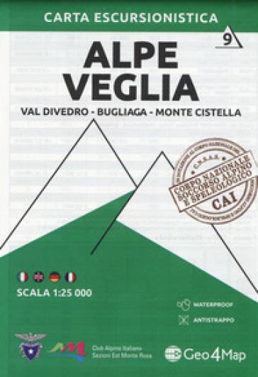 Carta escursionistica Alpe Veglia. Val Divedro, Bugliaga, Monte Cistella 1:25.000