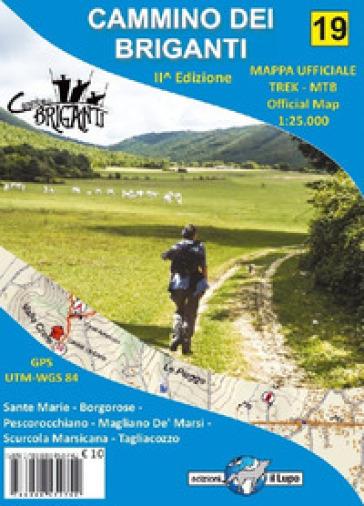 Carta escursionistica Cammino dei Briganti. Ediz. italiana e inglese