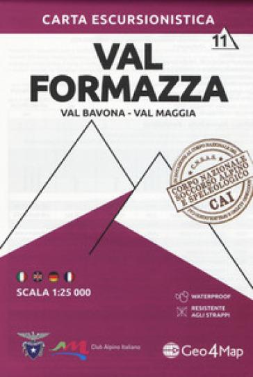 Carta escursionistica Val Formazza, Val Bavona, Val Maggia 1:25.000