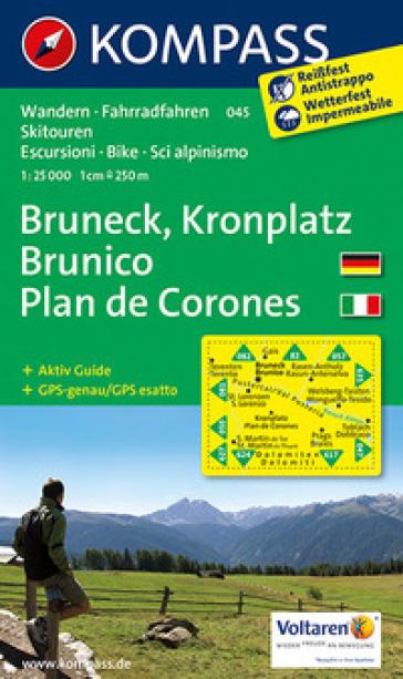 Carta escursionistica n. 045. Plan de Corones, Brunico-Kronplatz, Bruneck 1:25.000. Adatto a GPS. Digital map. DVD-ROM