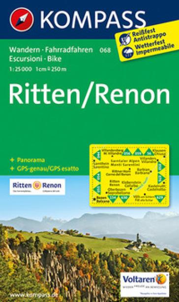 Carta escursionistica n. 068. Renon-Ritten. Adatto a GPS. Digital map. DVD-ROM
