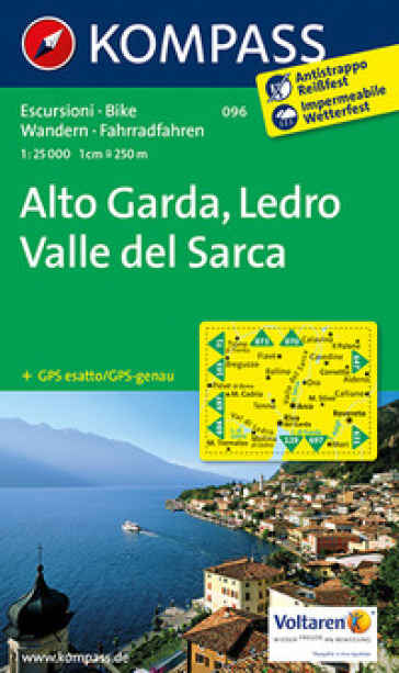 Carta escursionistica n. 096. Alto Garda, Val di Ledro 1:25.000. Adatto a GPS. Digital map. DVD-ROM