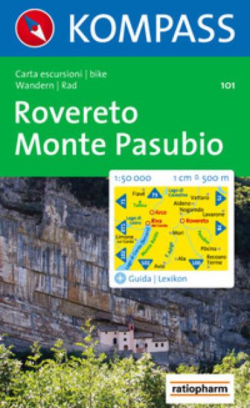 Carta escursionistica n. 101. Rovereto, Monte Pasubio 1:50.000