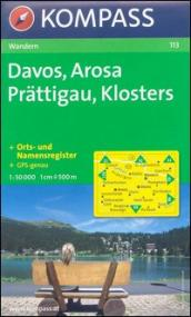 Carta escursionistica n. 113. Svizzera, Alpi occidentale. Davos, Arosa, Prattigau, Klosters 1:50.000. Adatto a GPS. DVD-ROM. Digital map
