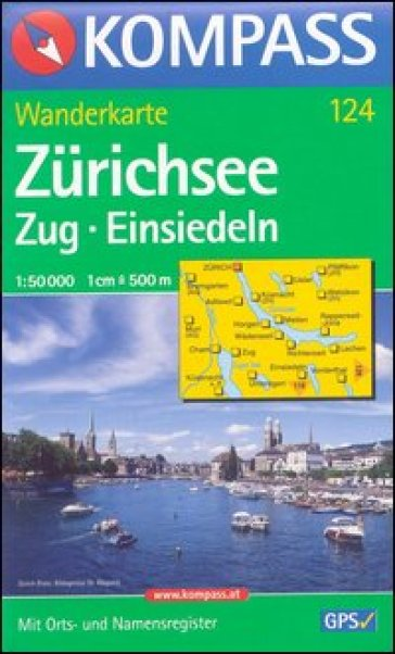 Carta escursionistica n. 124. Svizzera, Alpi occidentale. Zurichsee, Zug, Einsiedeln 1:50.000. Adatto a GPS. DVD-ROM. Digital map