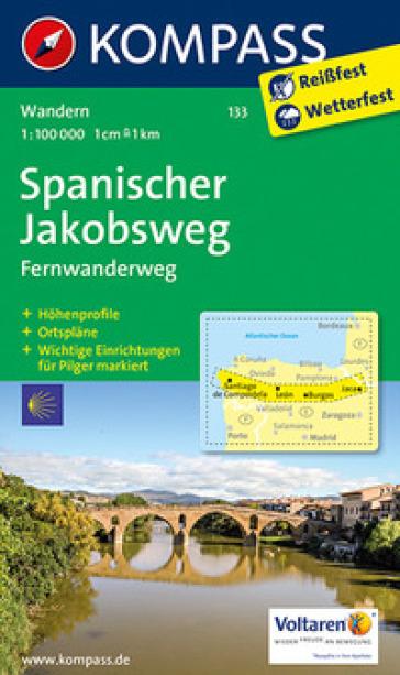 Carta escursionistica n. 133. Cammino di Santiago tratto spagnolo-Spanischer Jakobsweg 1:100.000. Ediz. bilingue