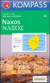 Carta escursionistica n. 246. Grecia. Naxos 1:50.000. Adatto a GPS. DVD-ROM. Digital map