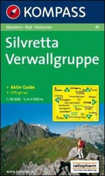 Carta escursionistica n. 41. Austria. Nei dintorni del lago di Costanza-Rund um den Bodensee. Silvretta-Verwallgruppe 1:50.000. Adatto a GPS. DVD-ROM digital map. Ediz. bilingue