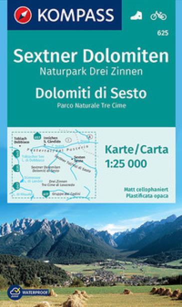 Carta escursionistica n. 625. Dolomiti di Sesto-Sextner Dolomiten 1.25:000. Ediz. bilingue